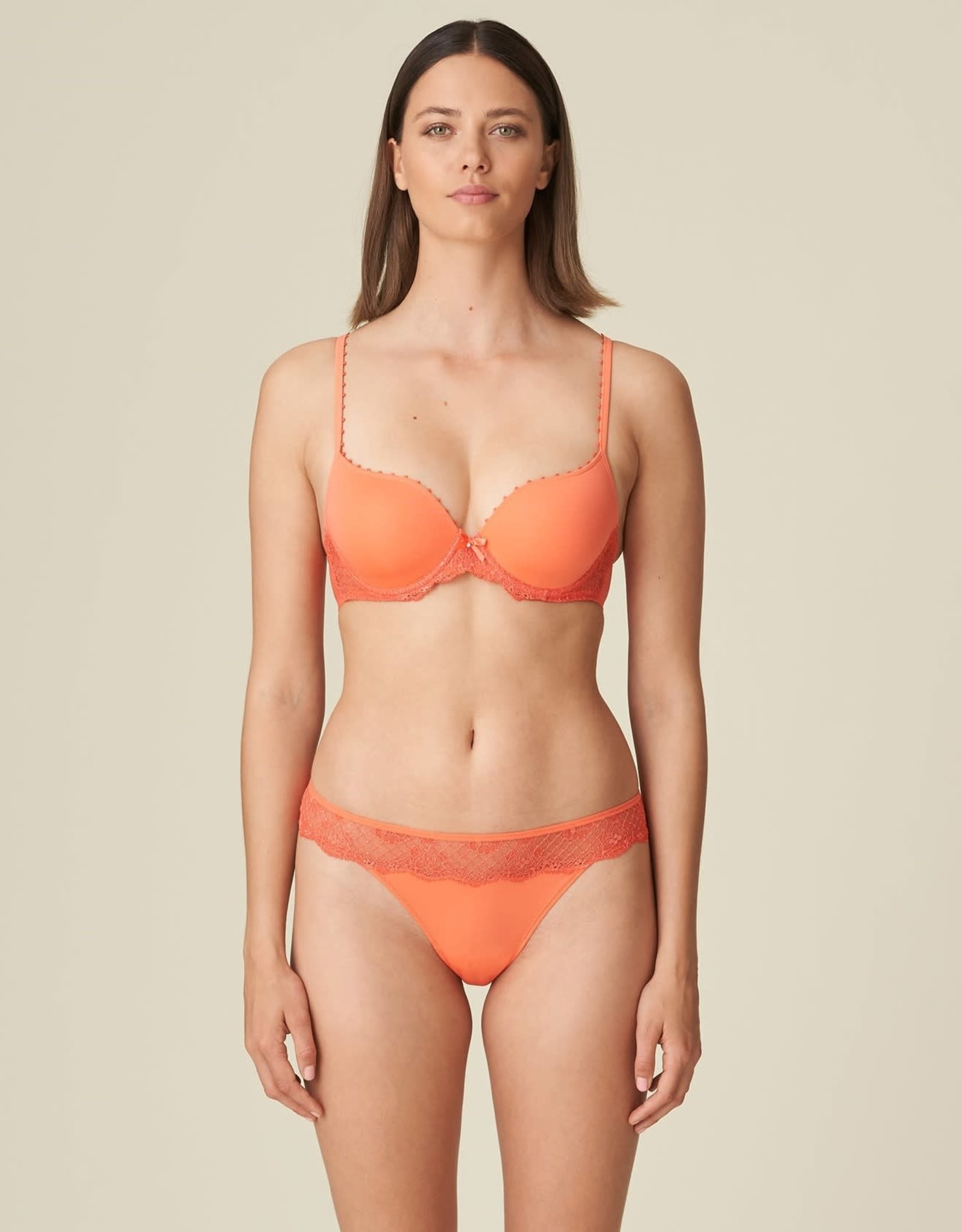Marie Jo Pearl - Living Coral - Lingerie setje - BH 75C & String 38