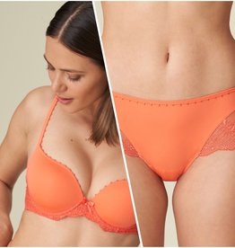 Marie Jo Pearl - Living Coral - Lingerie setje - BH 80D & Short 38