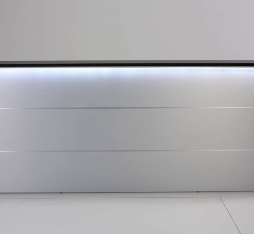 Empfangstheke AS-Line, J-Form, abgerundeter Winkel, 1600 x 1600mm