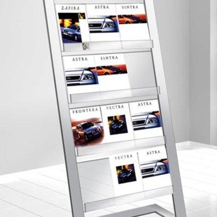 Prospektständer aus Edelstahl oder Aluminium für Ihren Wartebereich