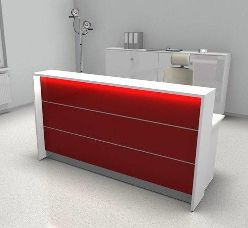 Serie MA  Empfangstheke AS-Line, 200cm breit in vielen Farben und Varianten