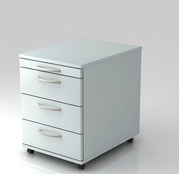 Serie HB - Schrank- und Tischkombination für Büro oder Praxis  Rollcontainer Standard 60cm tief