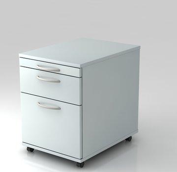 Serie HB - Schrank- und Tischkombination für Büro oder Praxis  Rollcontainer Standard 60cm tief mit Hängeregistratur