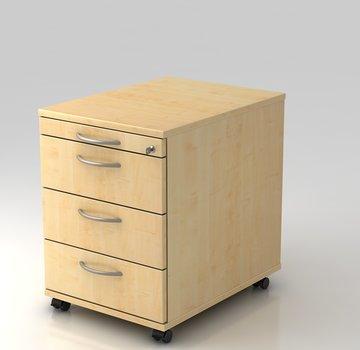 Serie HB - Schrank- und Tischkombination für Büro oder Praxis  Rollcontainer Profi 60cm tief abschließbar