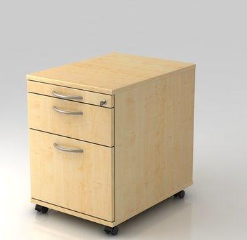 Serie HB - Schrank- und Tischkombination für Büro oder Praxis  Rollcontainer Profi 60cm tief abschließbar mit Hängeregistratur