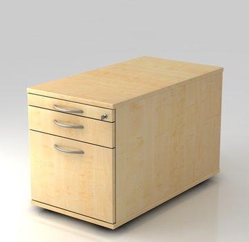 Serie HB - Schrank- und Tischkombination für Büro oder Praxis  Rollcontainer Profi 80cm tief abschließbar mit Hängeregistratur