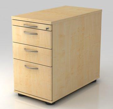 Serie HB - Schrank- und Tischkombination für Büro oder Praxis  Standcontainer Profi 80cm tief abschließbar mit Hängeregistratur