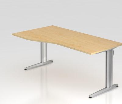 Serie HB - Schrank- und Tischkombination für Büro oder Praxis  Schreibtisch XS 180 x 100 cm in 7 Farbvarianten