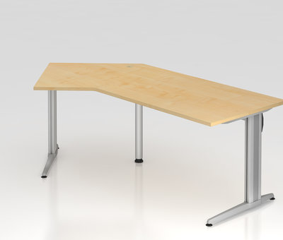 Serie HB - Schrank- und Tischkombination für Büro oder Praxis  Schreibtisch XS 210 x 113 cm in 7 Farbvarianten