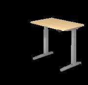 Serie HB Schreibtisch XBH elektrisch höhenverstellbar 120 x 80 cm in Silber