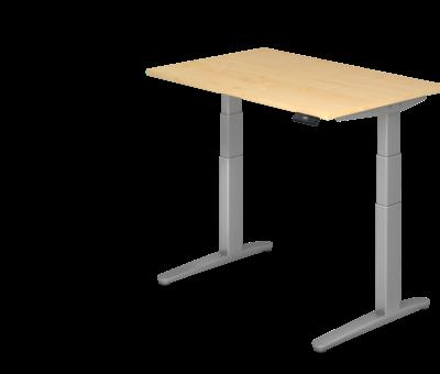 Serie HB Schreibtisch XBH elektrisch höhenverstellbar 120 x 80 cm in Silber und in 7 Farbvarianten