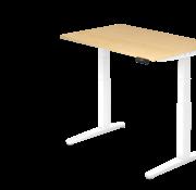 Serie HB - Schrank- und Tischkombination für Büro oder Praxis  Schreibtisch XBH elektrisch höhenverstellbar 120 x 80 cm in Weiß