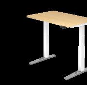 Serie HB Schreibtisch XBH elektrisch höhenverstellbar 120 x 80 cm in Weis/Alu