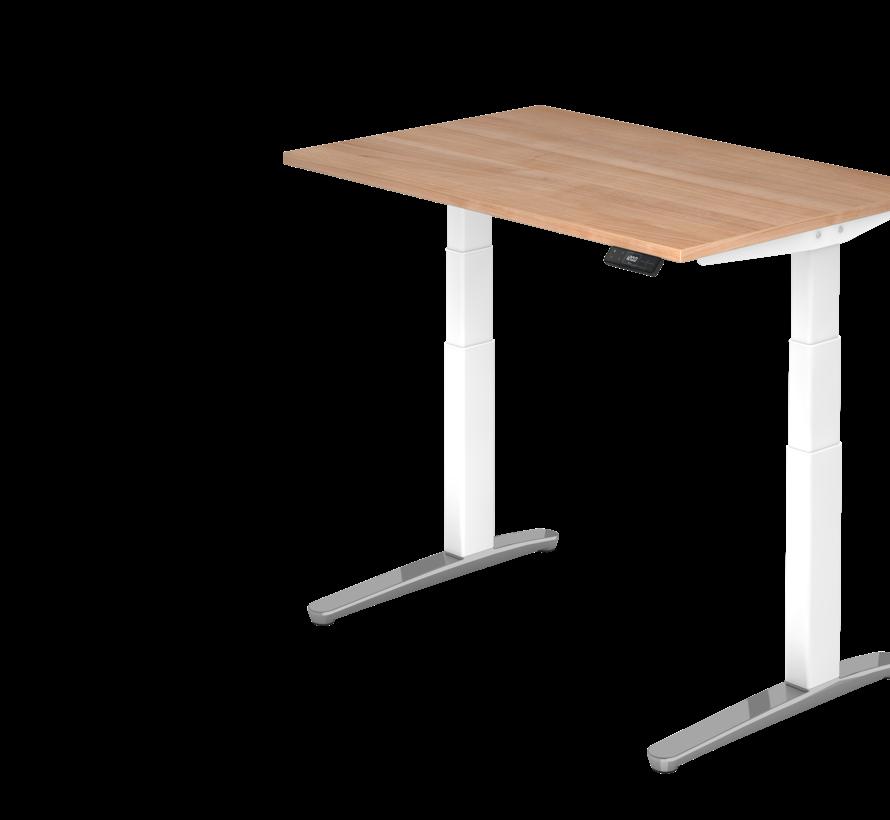 Schreibtisch XBH elektrisch höhenverstellbar 120 x 80 cm in Weiß/Alu und in 7 Farbvarianten