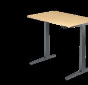 Serie HB - Schrank- und Tischkombination für Büro oder Praxis  Schreibtisch XBH elektrisch höhenverstellbar 120 x 80 cm in Graphit/Graphit