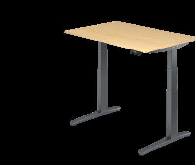 Serie HB Schreibtisch XBH elektrisch höhenverstellbar 120 x 80 cm in Graphit/Graphit und in 7 Farbvarianten