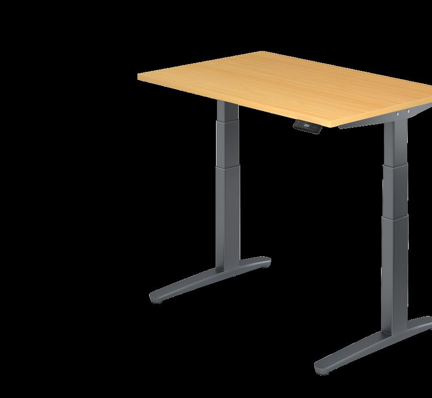 Schreibtisch XBH elektrisch höhenverstellbar 120 x 80 cm in Graphit/Graphit und in 7 Farbvarianten