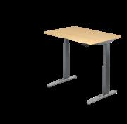 Serie HB Schreibtisch XBH elektrisch höhenverstellbar 120 x 80 cm in Graphit/Alu