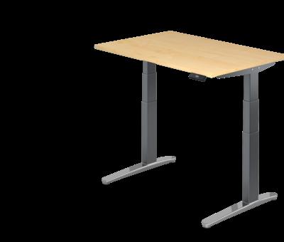 Serie HB Schreibtisch XBH elektrisch höhenverstellbar 120 x 80 cm in Graphit/Alu und in 7 Farbvarianten