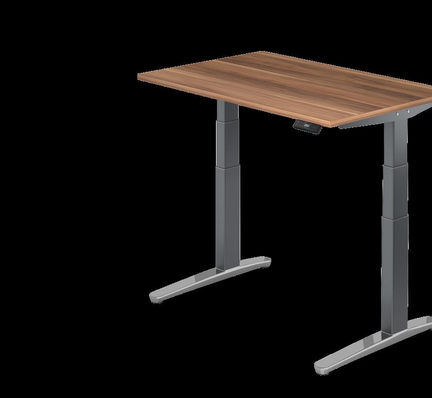 Schreibtisch XBH elektrisch höhenverstellbar 120 x 80 cm in Graphit/Alu und in 7 Farbvarianten