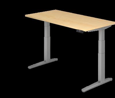 Serie HB Schreibtisch XBH elektrisch höhenverstellbar 160 x 80 cm in Silber und in 7 Farbvarianten