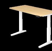 Serie HB - Schrank- und Tischkombination für Büro oder Praxis  Schreibtisch XBH elektrisch höhenverstellbar 160 x 80 cm in Weiß