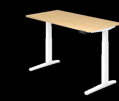 Serie HB - Schrank- und Tischkombination für Büro oder Praxis  Schreibtisch XBH elektrisch höhenverstellbar 160 x 80 cm in Weiß und in 7 Farbvarianten