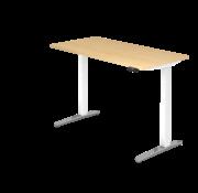 Serie HB Schreibtisch XBH elektrisch höhenverstellbar 160 x 80 cm in Weiß/Alu