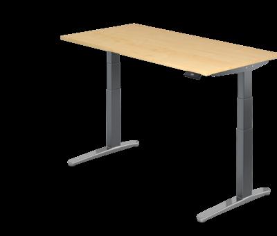 Serie HB Schreibtisch XBH elektrisch höhenverstellbar 160 x 80 cm in Graphit/Alu und in 7 Farbvarianten
