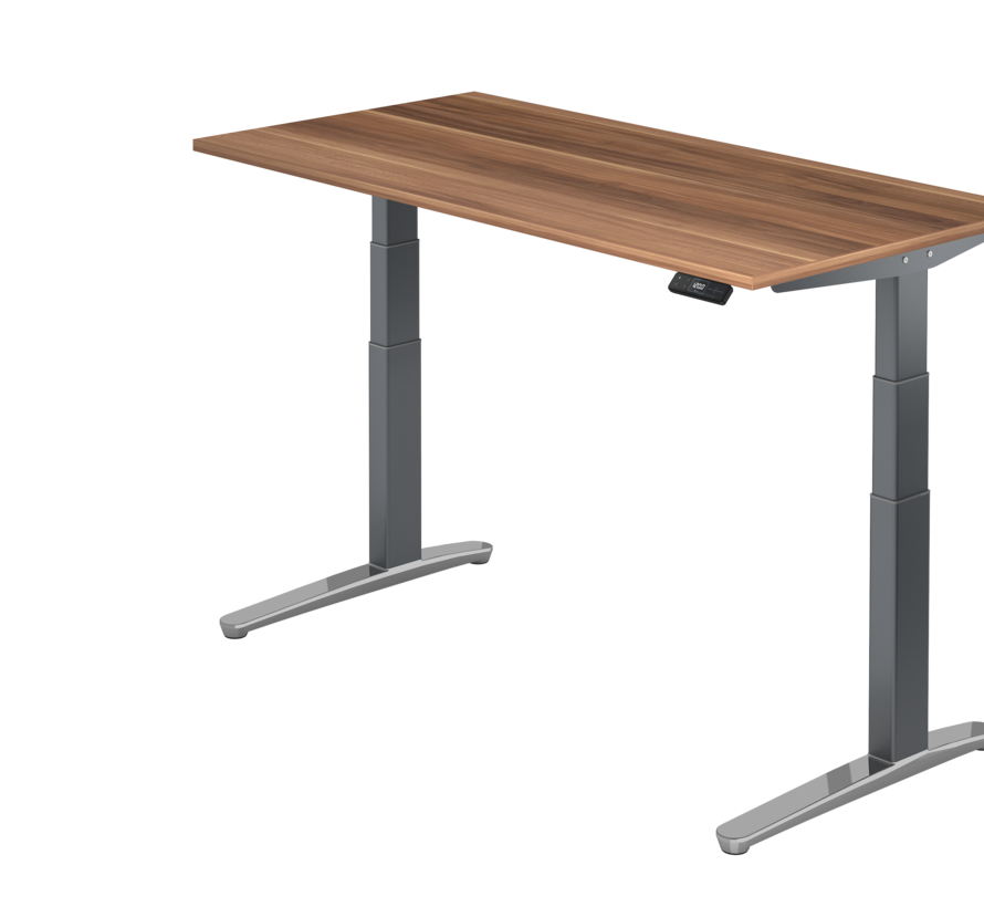 Schreibtisch XBH elektrisch höhenverstellbar 160 x 80 cm in Graphit/Alu und in 7 Farbvarianten