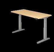 Serie HB Schreibtisch XBH elektrisch höhenverstellbar 180 x 80 cm in Silber