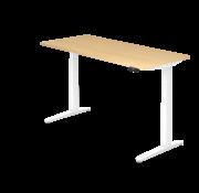 Serie HB Schreibtisch XBH elektrisch höhenverstellbar 180 x 80 cm in Weiß