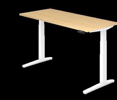 Serie HB - Schrank- und Tischkombination für Büro oder Praxis  Schreibtisch XBH elektrisch höhenverstellbar 180 x 80 cm in Weiß und in 7 Farbvarianten