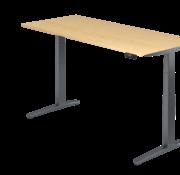 Serie HB - Schrank- und Tischkombination für Büro oder Praxis  Schreibtisch XBH elektrisch höhenverstellbar 180 x 80 cm in Graphit