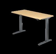 Serie HB Schreibtisch XBH elektrisch höhenverstellbar 180 x 80 cm in Graphit