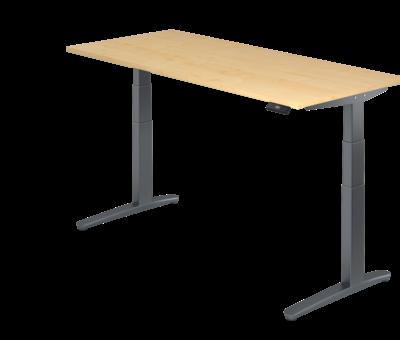Serie HB Schreibtisch XBH elektrisch höhenverstellbar 180 x 80 cm in Graphit und in 7 Farbvarianten