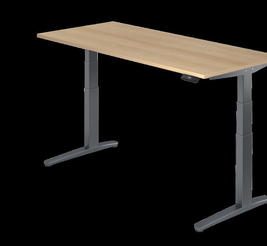Schreibtisch XBH elektrisch höhenverstellbar 180 x 80 cm in Graphit und in 7 Farbvarianten