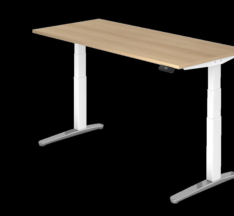 Schreibtisch XBH elektrisch höhenverstellbar 180 x 80 cm in Weiß/Alu und in 7 Farbvarianten