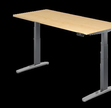 Serie HB Schreibtisch XBH elektrisch höhenverstellbar 180 x 80 cm in Graphit/Alu