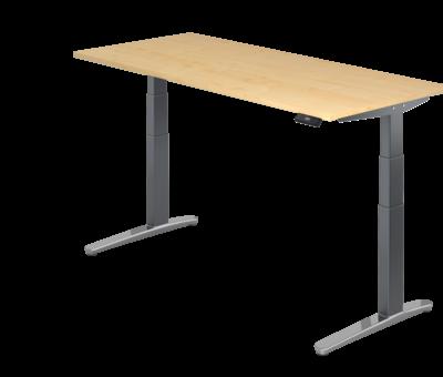 Serie HB Schreibtisch XBH elektrisch höhenverstellbar 180 x 80 cm in Graphit/Alu und in 7 Farbvarianten