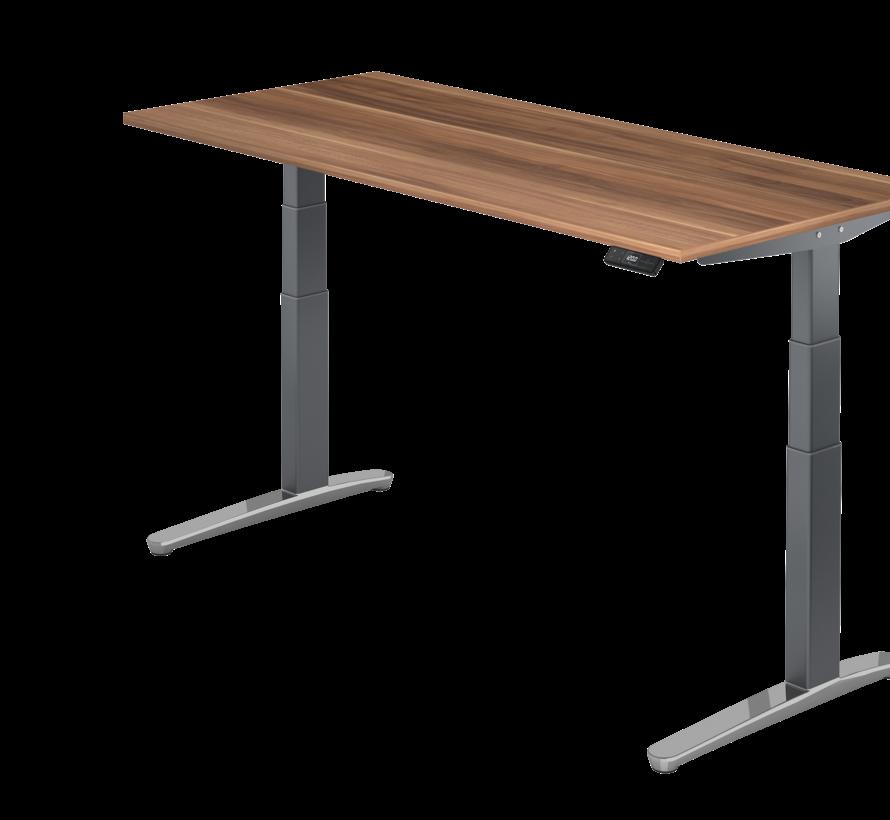 Schreibtisch XBH elektrisch höhenverstellbar 180 x 80 cm in Graphit/Alu und in 7 Farbvarianten
