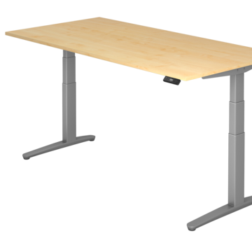 Serie HB Schreibtisch XBH elektrisch höhenverstellbar 180 x 80 cm in Graphit/Graphit