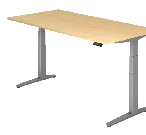 Serie HB Schreibtisch XBH elektrisch höhenverstellbar 180 x 80 cm in Graphit/Graphit und in 7 Farbvarianten