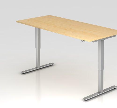 Serie HB Schreibtisch XMST mit Tast-Schalter 180 x 80 cm in Silber und in 7 Farbvarianten