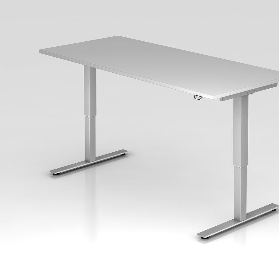 Schreibtisch XMST mit Tast-Schalter 180 x 80 cm in Silber und in 7 Farbvarianten