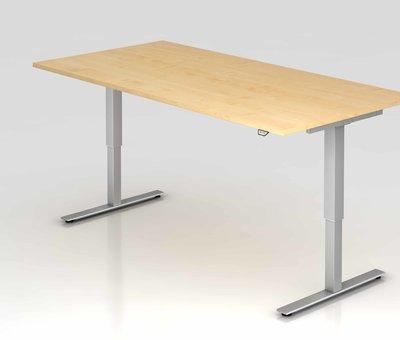 Serie HB Schreibtisch XMST mit Tast-Schalter 200 x 100 cm in Silber und in 7 Farbvarianten