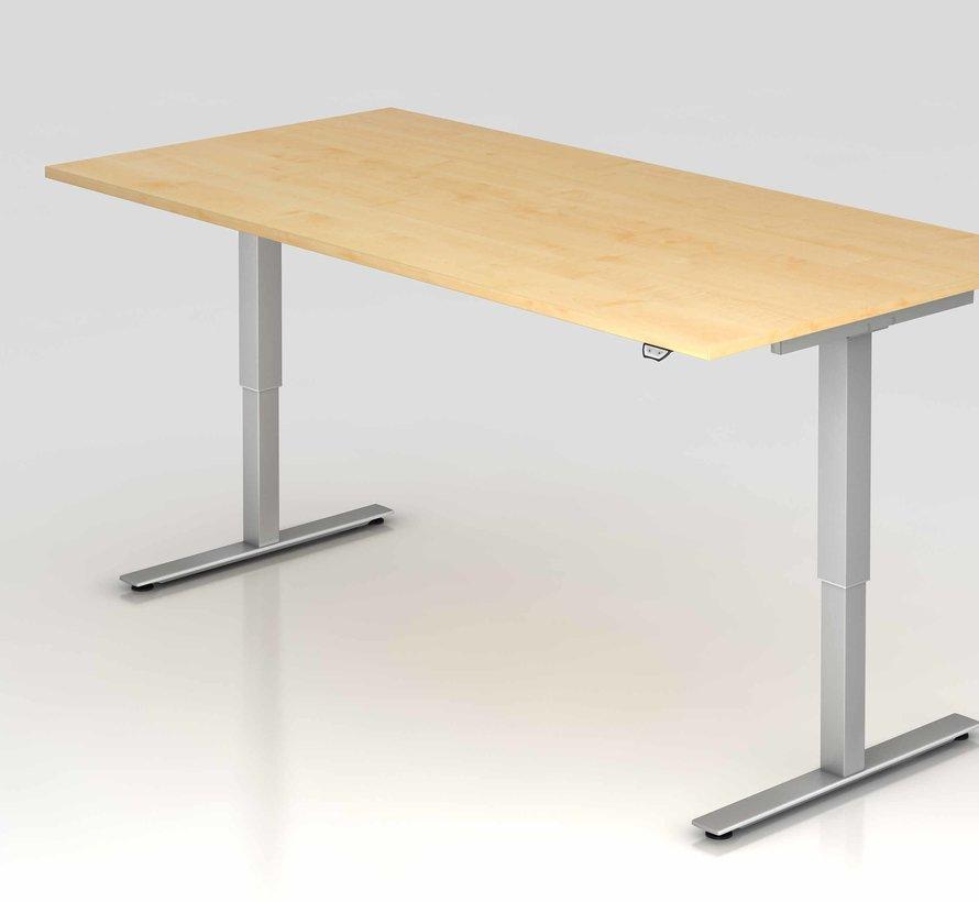 Schreibtisch XMST mit Tast-Schalter 200 x 100 cm in Silber und in 7 Farbvarianten