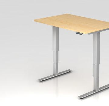 Serie HB Schreibtisch XDSM mit Memory Schalter 120 x 80 cm in Silber
