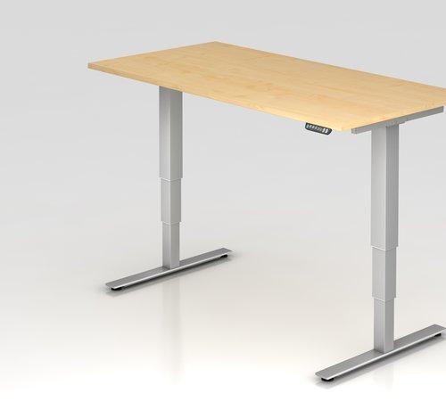 Serie HB Schreibtisch XDSM mit Memory Schalter 160 x 80 cm in Silber und in 7 Farbvarianten