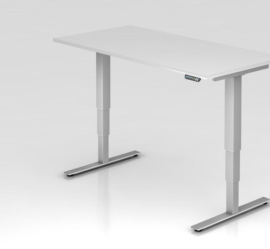 Schreibtisch XDSM mit Memory Schalter 160 x 80 cm in Silber und in 7 Farbvarianten